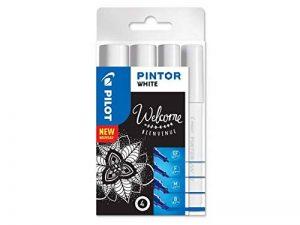 Pilot Pintor - Pochette de 4 - Blanc - Pointe Extra Fine/Fine/Moyenne/Large de la marque Pilot image 0 produit