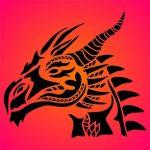 Pochoiravec motif de tête de dragons - Pochoir de style asiatique, réutilisable - Pour les projets sur papier, scrapbooking, journal, murs, sols, tissu, meuble, verre, bois, etc. S de la marque Stencil Company image 4 produit