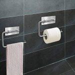 Porte-papier toilette, YAKAON Support de Papier de Soie de Finition Brossé en Acier Inoxydable 304 Auto-adhésif avec 3M Autocollant, Imperméable, Anti-poussière pour WC Salle de Bain de la marque YAKAON image 1 produit