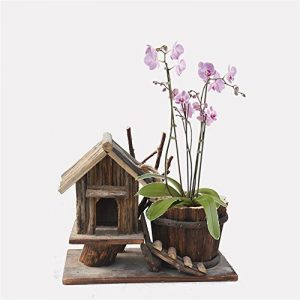 Pots de fleurs, artisanat en bois décoration de la maison décoration de jardin vert décoration de la maison maison en bois pot de fleurs simple fleur pot décoration simple mode articles ménagers de la marque Glstkjgs image 0 produit