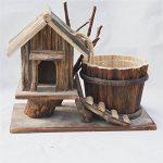 Pots de fleurs, artisanat en bois décoration de la maison décoration de jardin vert décoration de la maison maison en bois pot de fleurs simple fleur pot décoration simple mode articles ménagers de la marque Glstkjgs image 1 produit