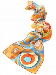 """Prettystern - longue écharpe foulard en soie de l'art de la peinture, Kandinsky """"couleur étude"""" 3 couleurs de la marque Prettystern image 0 produit"""