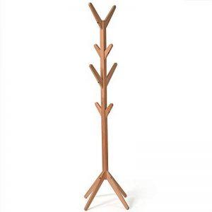 Qing MEI Support à présentoir Vertical en Bambou 4 Couches 8 Crochets et Pieds Solides écharpes et Chapeaux en Bambou, Couleur Naturelle A+ (Couleur : C) de la marque QING MEI-Portemanteau image 0 produit