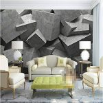 REAGONR Papier peint moderne 3d fond grande peinture béton art panneaux de briques murales de pared hôtel salle de bain murale pour le salon, 200x140cm (78.7 x 55.1 in) de la marque RAGONE image 2 produit