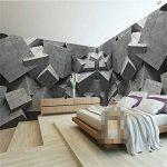 REAGONR Papier peint moderne 3d fond grande peinture béton art panneaux de briques murales de pared hôtel salle de bain murale pour le salon, 200x140cm (78.7 x 55.1 in) de la marque RAGONE image 1 produit