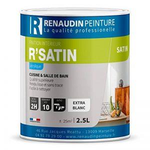 Renaudin Peinture 125205 R'SATIN - PEINTURE ACRYLIQUE - FINITION SATIN - MUR & PLAFOND - INTÉRIEUR - BLANC - 2,5L de la marque Renaudin Peinture image 0 produit