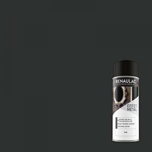 Renaulac Peinture Aérosol Déco multi-supports - Noir (Noir Métal) - 400 ml (Ref: C-REAERMET-0001-0L4) de la marque Renaulac image 0 produit