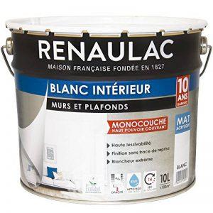 Renaulac Peinture intérieur Murs & Plafonds Monocouche Acrylique Blanc Mat 10L - 100m² de la marque Renaulac image 0 produit
