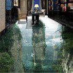 Revêtement de sol personnalisé 3d fée humaine falaise salon salle de bains décoration peinture 3D carrelage peinture, 150 * 105 cm de la marque Taxpy image 1 produit