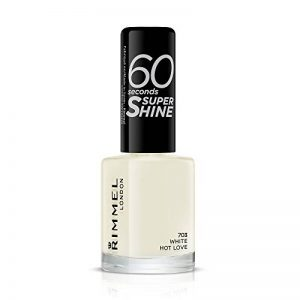 Rimmel - Vernis à ongles 60 Seconds Super Shine White Hot Love - (Blanc) de la marque Rimmel image 0 produit