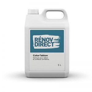 Rénovdirect Colorbéton, Teinture pour Embellir Béton et Surfaces Pavés, 5L Gris Anthracite de la marque Rénovdirect image 0 produit
