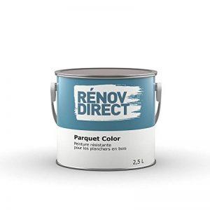 Rénovdirect Parquet Color, Peinture Résistante Polyuréthane pour Planchers en Bois, 2,5L charbon de la marque Rénovdirect image 0 produit
