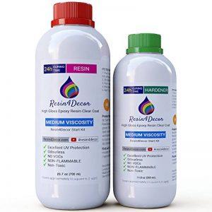 Résine époxy clair non toxique UV Viscosité Moyenne Resin4decor Art Resin, 1050 ml de la marque Resin4Decor image 0 produit