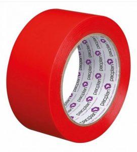 Ruban adhésif rouge robuste haute visibilité, 50mmx33m, pour marquage au sol, 1 rouleau de la marque Pacplan image 0 produit