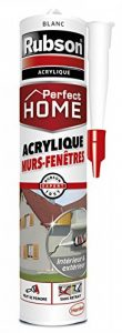 Rubson Mastic Perfect Home Acrylique Murs & Fenêtres, mastic acrylique blanc pour intérieur & extérieur, comble fissure, joint porte et fenêtre, 280 ml de la marque Rubson image 0 produit