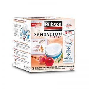RUBSON - Recharges parfumées pour absorbeur d'humidité - Aroma Energy - Parfum Fruits - 2 recharges de la marque Rubson image 0 produit