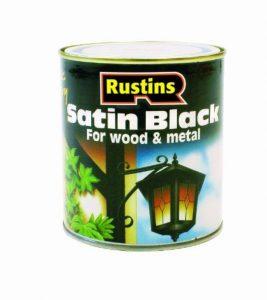 Rustins Peinture satinée à séchage rapide Noir 250 ml 500 ml 1 l 2,5 l Black 500ML de la marque Rustins image 0 produit