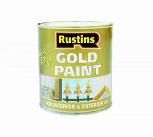 Rustins Peinture à séchage rapide pour bois et métal Doré 250ML de la marque Rustins image 0 produit