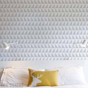 Scandinavian TRIANGLES Mural Maison de pochoir peinture de décoration Motif Pochoir pour peinture sur mesure finition à Murs, Fabrics et meuble - Small/ 17x24cm de la marque Ideal Stencils image 0 produit