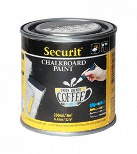 Securit Tableau noir 250ml Peinture acrylique à base d'eau pour verre/métal/céramique/plastique/bois de la marque Securit image 0 produit