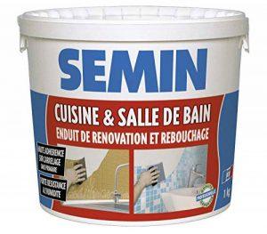 Semin A04755 Enduit de Rebouchage et Rénovation Spécial Cuisine et Salle de Bain, Adapté aux Pièces Humides, Seau de 1 kg de la marque Semin image 0 produit