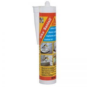 Sika Sanisil, Joint silicone anti-moisissure spécial salle de bain et cuisine, 300ml, Blanc de la marque SIKA image 0 produit
