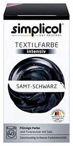 Simplicol Kit de Teinture Textile Dye Intensive Noir, pour Teindre Vêtements et Tissus en Machine à Laver, Contient Un Fixateur Liquide pour Colorant, sans Danger et Sûr pour Votre Machine à Laver de la marque Simplicol image 0 produit
