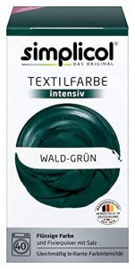 Simplicol Kit de Teinture Textile Dye Intensive Vert, pour Teindre Vêtements et Tissus en Machine à Laver, Contient Un Fixateur Liquide pour Colorant, sans Danger et Sûr pour Votre Machine à Laver de la marque Simplicol image 0 produit