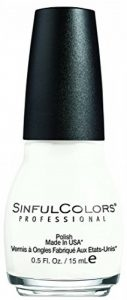 SINFUL COLORS Vernis à Ongles N° 0101 Snow Me White 15 ml de la marque Sinful-Colors image 0 produit