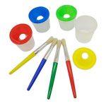 Smallones 4 pièces pas de déversement tasse de peinture et pinceaux peinture enfant coloré Brosses de Peinture de la marque Smallones image 3 produit