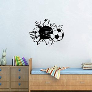 Stickers Smart House® - Sticker mural Football - Noir (55X40) de la marque Smart-House image 0 produit