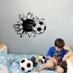 Stickers Smart House® - Sticker mural Football - Noir (55X40) de la marque Smart-House image 1 produit