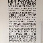Stickers Smart House® - Sticker mural « les règles de la maison » Noir (65X40) de la marque Smart-House image 2 produit