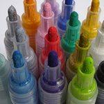 Stylos marqueurs peinture acrylique - 12 couleurs vibrantes fantastiques + 24 pièces de rechange - Marqueurs de pointes rechargeables à point moyen pour bois, métal, toile, roche, peinture sur tissu de la marque Cambridge Art Supplies image 3 produit
