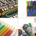 Stylos marqueurs peinture acrylique - 12 couleurs vibrantes fantastiques + 24 pièces de rechange - Marqueurs de pointes rechargeables à point moyen pour bois, métal, toile, roche, peinture sur tissu de la marque Cambridge Art Supplies image 4 produit