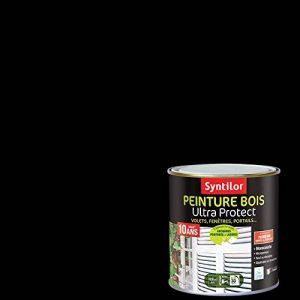 Syntilor - Peinture Bois Ultra Protect Noir Satiné RAL 9005 0,5L de la marque Syntilor image 0 produit
