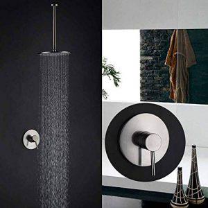 Système de douche, ensemble de robinets de douche encastrés dans la salle de bains, ensemble de douche en cuivre, ensemble de douche au plafond pour salle de bains, ensemble de robinetterie de douche de la marque Robinet image 0 produit