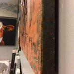 Tableau métallique Relief 3D / Décoration Murale/Toile Faite à la Main damasquinage, Soudure, Peinture – Motif Femmes & Robes de la marque Meubletmoi image 1 produit