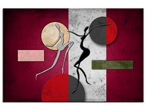 Tableau peinture design abstrait déco murale - TOP VENTE-1A-1186HX2E-R de la marque Hexoa image 0 produit