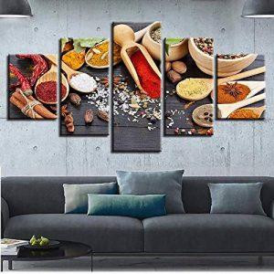 Taxpy Peinture décorative Affiche Combinaison de Peinture à l'huile Cinq en Un Salon décoration épice Colorant Cadre Abstrait, 30X40Cmx2 30X80Cmx1 30X60Cmx2 de la marque Taxpy image 0 produit