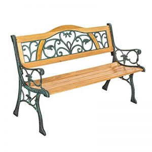 "TecTake Banc de jardin en bois | diverses modèles (""Kathi"" 124 x 60 x 83cm | no. 401426) de la marque TecTake image 0 produit"