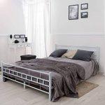 TecTake Lit en métal Design Cadre de lit + sommier à Lattes - diverses modèles - (140x200cm, Blanc) de la marque TecTake image 2 produit