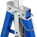 TecTake Lot de 2 Tréteaux télescopique | pliables hauteur réglable - diverses modèles - (Bleu | No. 402450) de la marque TecTake image 2 produit