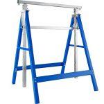 TecTake Lot de 2 Tréteaux télescopique | pliables hauteur réglable - diverses modèles - (Bleu | No. 402450) de la marque TecTake image 4 produit