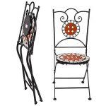 TecTake Mobilier de jardin mosaïque table et chaises meuble bistrot bar terrasse balcon de la marque TecTake image 1 produit