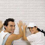 Tefamore PE Foam Fond d'écran 3D Autocollants muraux pour mur Décoration murale En relief Pierre de brique (Blanc) de la marque Tefamore image 1 produit
