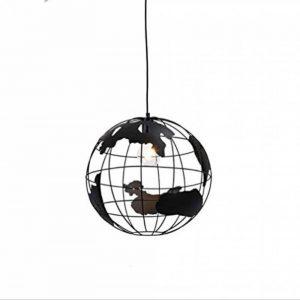 Terre plafonnier Pendentif lumière, Nordic Moderne Fer Lustre Globe pour Couloir allée étude Salle à Manger décoration de la Chambre des Enfants,Black,28cm de la marque Sallypan image 0 produit