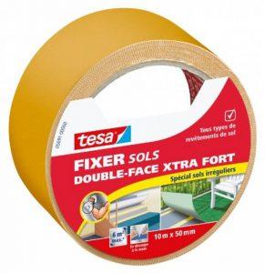 Tesa 05691-00000-00 Fixer Sols -Double-face Xtra Fort Spécial Sols Irréguliers 10 m x 50 mm de la marque Tesa image 0 produit