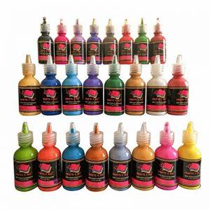 Tissu Peinture 24 couleurs Premium Qualité 3D permanente couleur vibrante peintures teintes pour tissu, toile, bois, céramique, verre par Artisanat 4 ALL de la marque Crafts 4 ALL® image 0 produit