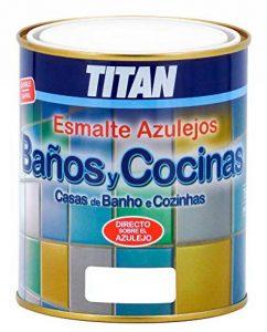 Titan M112276–Salle de Bain et cuisine Peinture pour carrelage, Bleu, 750ml de la marque Titan-Support-Systems image 0 produit